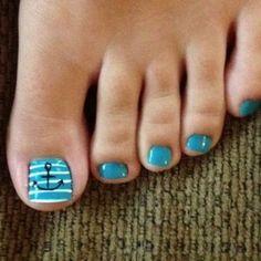 #lightblue #white #anchor #toenails