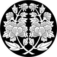 Japanese Kamon Design : Botan Synmetry