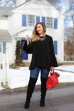 To say that the bell sleeve top is the trendiest item of 2017 is an understatement and if you haven't picked up one for yourself yet you're missing out!