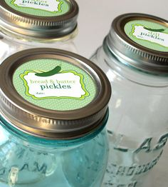Cute Dill, Sweet, Bread & Butter Pickle, and Relish Canning Jar labels, CanningCrafts, Etsy $4
