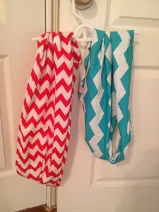 Yellow Umbrella in town has Infinity scarves just like these.. I want a teal and pink one! :)