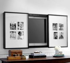 54 Best Ideas For Living Room Tv Wall Design Hidden Tv - Tecnology Living Room Tv, Formal Living Rooms, Home And Living, Modern Living, Tv On Wall Ideas Living Room, Barn Living, Minimalist Living, Small Living, Tv Emoldurada
