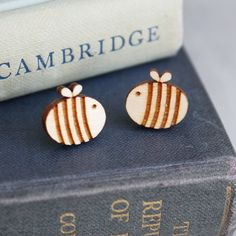 Super cute Bumble Bee Studs - love these!