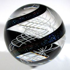 "Hot House Glass Banded Latticino Core Marble 1 72"" 44 mm 198 | eBay"