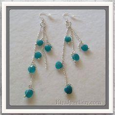 Genuine Blue Quartzite earrings. Handmade