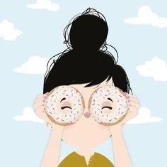 { h e l l o o o Did you miss me?! - # # #donuts #starbucks #dunkindonuts #doughnut #saudade by iamlubi