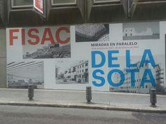 """Cartel de la exposición """"Fisac y de la Sota: Miradas en Paralelo """" en el Museo Ico de Madrid. . #Cartel #Affiche #Arterecord 2013/2014 https://twitter.com/arterecord"""