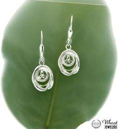 Sterling Silver Celtic Cradle of Life Dangle Earrings