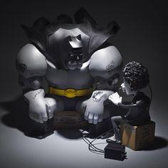 I Won't Be A Hero, Tim by Fool's Paradise (1st Qtr 2016) #iwontbeaherotim #foolsparadise #batlowfool #batman #timburton #designertoy #fatsuma #fatsumatoys #awesome #cool #instacool #beautiful #beauty #amazing #love #instalove #fun #art #instagood #collectible #toy #new