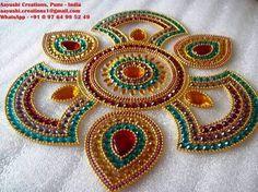 Image result for kundan rangoli designs images