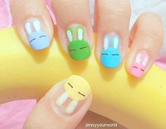 Rabbits nails-I well want that look on my nails so cute and as I am a rabbit lover.Xx