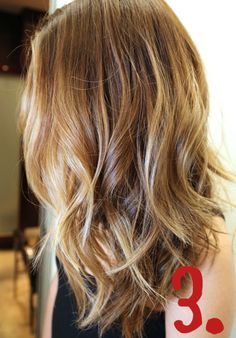 Doing this to my hair! Darker blonde - and I love the face framing highlighting blonde. Might add some peek-a-boos with that lighter blonde.