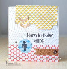 PSS April Designer Drafts challenge masculine bday card 4.26.15 @Paper Smooches @Imagine Crafts