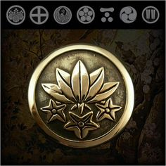 Family Crests of Japan Samurai Family Crests Coat of Arms Brass ConchoWILD HEARTS Leather & Silver http://item.rakuten.co.jp/auc-wildhearts/cc2511/