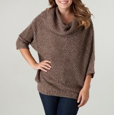 Cowl Neck Poncho Sweater. -- totally in love with these sweaters! the one i have is so comfy and warm.. could seriously wear it everyday ;p need one in all colors haha! like to pair it with leggings or skinnys and uggs!