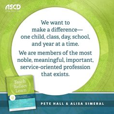ASCD authors Pete Hall and Alisa Simeral share strategies on how teachers can deepen their thinking and reflect on their capacity as an educator in the book, Teach, Reflect, Learn: Building Your Capacity for Success in the Classroom.