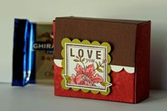 Splitcoaststampers - Ghirardelli® Box Project Tutorial by Beate Johns.I'm obsessed with these boxes! Chocolates, Stampin Up, Paper Purse, Card Tutorials, Little Gifts, Craft Fairs, Cardmaking, Paper Crafts, Crafty