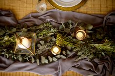 Industrial Glamour Table Setting by Crate and Arrow Company www.crateandarrow.co.za