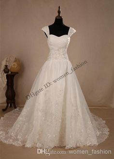 Cheap Wedding Dress - Discount Cap Sleeve 2014 New Fashion Formal Bridal Dresses Online with $238.75/Piece | DHgate