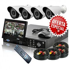 4 Channel Security Equipment with monitor included at the best price on the market. Do not miss the opportunity to insure your home or business. With these prices you no longer have justification BUY NOW!!!