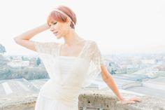 Romantische Hochzeitskleid Elfenbein Spitzenkleid von mimetik