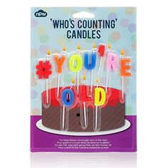 NPW Birthday Candles  Hashtag  Youre Old ** Continue to the product at the image link.  This link participates in Amazon Service LLC Associates Program, a program designed to let participant earn advertising fees by advertising and linking to Amazon.com.