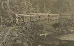 Train near High Rock, circa 1860's in the Naugatuck Valley
