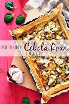 Puff Pie with Red Onion and Cottage Cheese