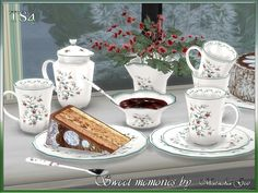 Maruska-Geo Tea set Sweet memories  Found in TSR Category 'Sims 4 Decorative Sets'