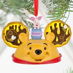 Disney Parks Store - Winnie the Pooh Ear Hat Ornament - Piglet - Hunny Pot - Bee #DisneyParks