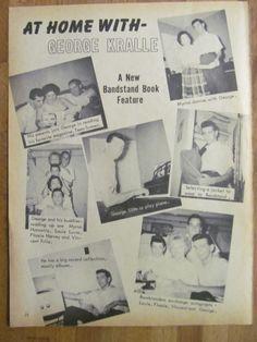 American Bandstand, George Kralle, Full Page Vintage Clipping Christopher George, American Bandstand, Elizabeth Montgomery, Vintage Clip, Rock N Roll, Music, Musica, Musik, Rock Roll