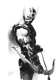 Hawkeye by Gerald Parel. Marvel comics. Comic book archers.