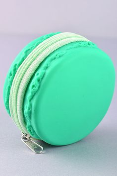 Macaroon Coin Purse - Mint / Yellow / Pearl