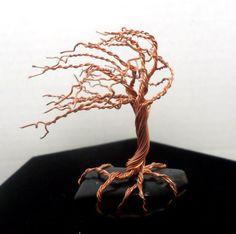 Hawk's Eye Copper Wire Windswept Tree of Life Handmade Home Decor Reiki Healing Crystals Wire Art Tree Sculpture by TwistedFingerDesigns on Etsy https://www.etsy.com/listing/263773078/hawks-eye-copper-wire-windswept-tree-of