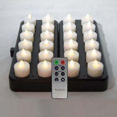"EcoLytesâ""¢ REMOTE Rechargeable LED Candles/Lamps (24 pc Set)"