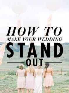 Make your wedding awesome!