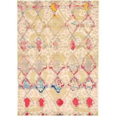 Turkish Barcelona Beige Polypropylene Rug (7'x10')