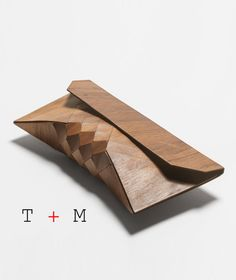 Emboya Wood Clutch by Tesler + Mendelovitch