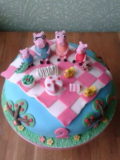 Peppa pig cake.... Totally Olive's next birthday cake!