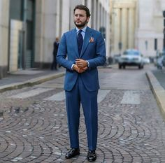 Fabio Attanasio blue suit