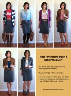 Ways to Dress Down a Pencil Skirt