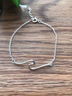 Silver Wave Bracelet  - Gift for her  - Bracelet en argent - Sterling Silver Bracelet - Adjustable Bracelet - Wave Jewelry, Gift for Her by JoudiaJewelry on Etsy Beach Bracelets, Summer Bracelets, Wave Jewelry, Jewelry Box, Argent Sterling, Adjustable Bracelet, Sterling Silver Bracelets, Gifts For Her, Etsy