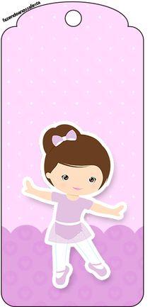 Bailarina Morena – Kit Completo Digital com molduras para convites, rótulos para guloseimas, lembrancinhas e imagens!