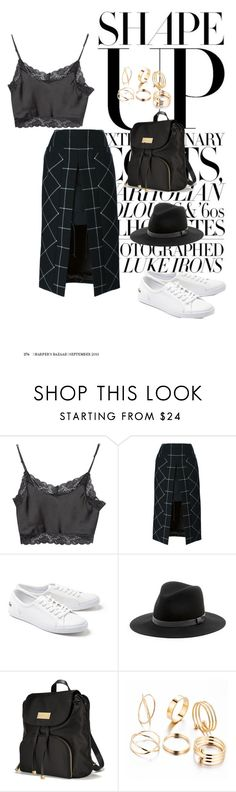 """""""Sekundes"""" by agnesegundega on Polyvore featuring Brandy Melville, Sacai, Lacoste, Sole Society and Victoria's Secret"""