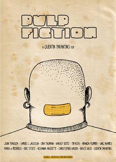 Pulp Fiction - poster design by Ivan De Lorenzo