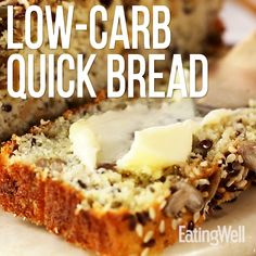 This low-carb bread is chock-full of seeds and flours that make the loaf mimic classic bread while managing to keep carb counts low. This bread is a vessel for both sweet and savory toppings, but the nutty flavors of the ingredients shine with just a Best Bread Recipe, Lowest Carb Bread Recipe, Gluten Free Seed Bread Recipe, Paleo Bread Recipe Easy, Multigrain Bread Recipe, Carb Free Bread, Healthy Homemade Bread, Best Low Carb Bread, Yeast Free Breads