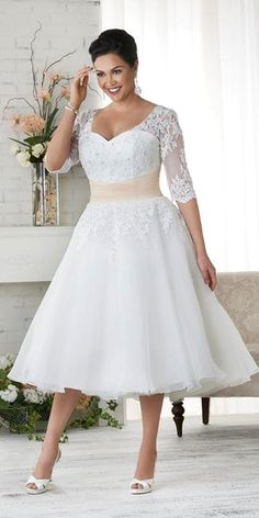 #slimmingbodyshapers   Bra-friendly plus size wedding gown Visit our blog for inspirational stories & articles about plus size women, plus size issues and tips for the plus size lifestyle slimmingbodyshapers.com http://rockabillyclothingstore.com/