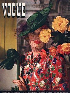 Vogue March 1940 #vintage #fashion #1940s