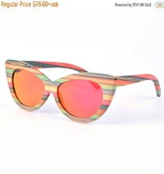 63a6c0a229 Brand Creation 10 Years colour bamboo skateboard wood TAKEMOTO Gafas De Sol  De Espejo, Óptica