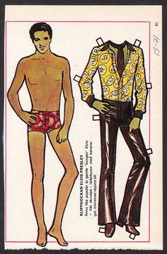Elvis Presley Rare Vintage 1970s Pop Music TV Star Paper Doll | eBay